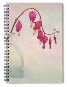 Dicentra In A Glass Vase 2 Spiral Notebook