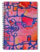 Dichotomy  Original Abstract Oil Painting By Regina Valluzzi Spiral Notebook