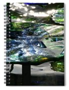 Dichromic Lily Pad Spiral Notebook