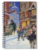 Dickensian Christmas Scene Spiral Notebook