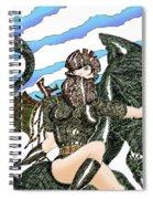 Digital Dragon Rider Colour Version Spiral Notebook
