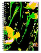 Digital Green Yellow Abstract Spiral Notebook