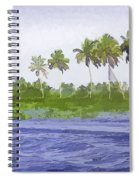 Digital Oil Painting - Water Rippling In The Coastal Lagoon Spiral Notebook