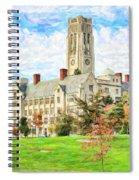 Digital Painting Of University Hall Spiral Notebook