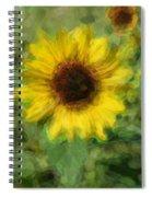 Digital Painting Series Sunflower Spiral Notebook