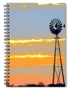 Digital Windmill-horizontal Spiral Notebook