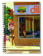Dilallo Notre Dame Ouest And Charlevoix Sunny Street Montreal Urban City Scene Carole Spandau Spiral Notebook