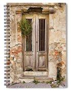 Dilapidated Brown Wood Door Of Portugal Spiral Notebook
