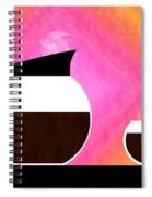 Diner Coffee Pot And Cup Sorbet Spiral Notebook