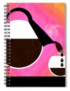 Diner Coffee Pot And Cup Sorbet Pouring Spiral Notebook