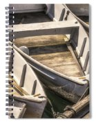 Dinghies Dockside Faded Spiral Notebook