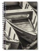 Dinghies Dockside Bw Spiral Notebook