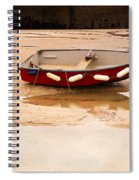 Dinghy At Low Tide In St Ives Cornwall Spiral Notebook