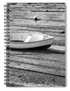 Dinghy At Low Tide Spiral Notebook