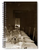 Dining Room Table Circa 1900 Spiral Notebook
