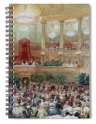 Dinner In The Salle Des Spectacles At Versailles Spiral Notebook