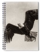 Dinner Time Black And White Spiral Notebook