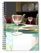 Dinning Table Spiral Notebook