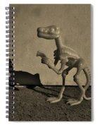 Dino Dark Medium Sepia Spiral Notebook
