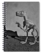 Dino Dark B W Spiral Notebook