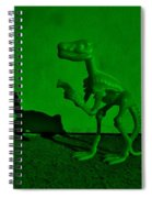 Dino Dark Green Spiral Notebook