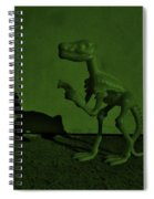 Dino Dark Olive Spiral Notebook