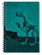 Dino Dark Turquoise Spiral Notebook