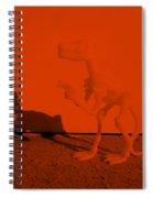 Dino Orange Spiral Notebook