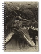 Dino's At The Zoo Come Here Cameraman In Heirloom Finish Spiral Notebook