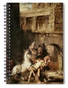 Diomedes Devoured By His Horses Spiral Notebook