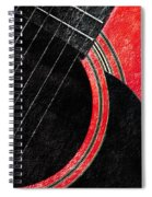 Diptych Wall Art - Macro - Red Section 2 Of 2 - Giants Colors Music - Abstract Spiral Notebook