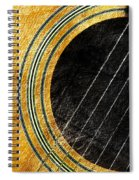 Diptych Wall Art - Macro - Gold Section 1 Of 2 - Vikings Colors - Music - Abstract Spiral Notebook