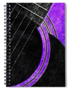 Diptych Wall Art - Macro - Purple Section 2 Of 2 - Vikings Colors - Music - Abstract Spiral Notebook