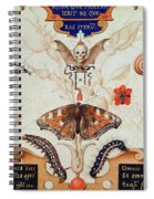 Diptych With Flowers And Insects Spiral Notebook