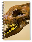 Dire Wolf Skull Fossil Spiral Notebook