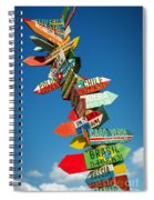 Directions Signs Spiral Notebook