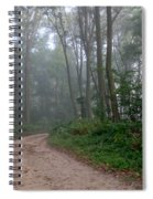Dirt Path In Forest Woods With Mist Spiral Notebook