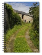 Dirt Path To Stone Building Spiral Notebook