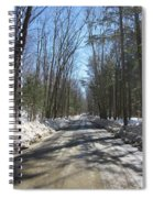 Dirt Road In March Spiral Notebook