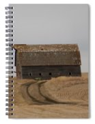 Dirt Road To An Old Leaning Barn Spiral Notebook