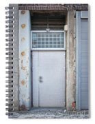 Dirty Metal Door Spiral Notebook