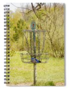 Disc Golf Basket 7 Spiral Notebook