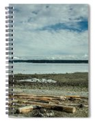 Low Tide Along The Discovery Passage Spiral Notebook