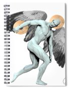 Discus Thrower Angel Spiral Notebook