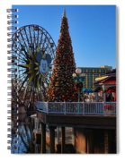 Disney California Adventure Christmas Spiral Notebook