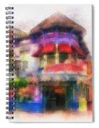 Disney Clothiers Main Street Disneyland Photo Art 01 Spiral Notebook