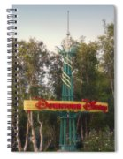 Disneyland Downtown Disney Signage 01 Spiral Notebook