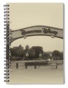Disneyland Downtown Disney Signage 02 Heirloom Spiral Notebook