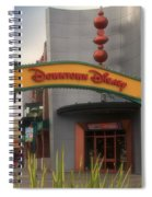 Disneyland Downtown Disney Signage 03 Spiral Notebook