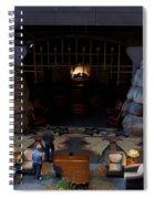 Disneyland Grand Californian Hotel Fireplace 02 Spiral Notebook